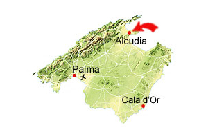 Gamla Alcudia karta