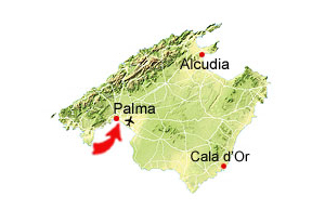 Palma de Mallorca karta
